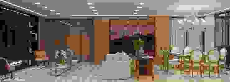 Camila Pimenta | Arquitetura + Interiores Moderne Wohnzimmer Holz Beige