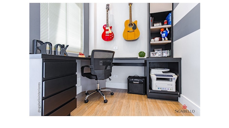 Sgabello Interiores Office spaces & stores MDF Black