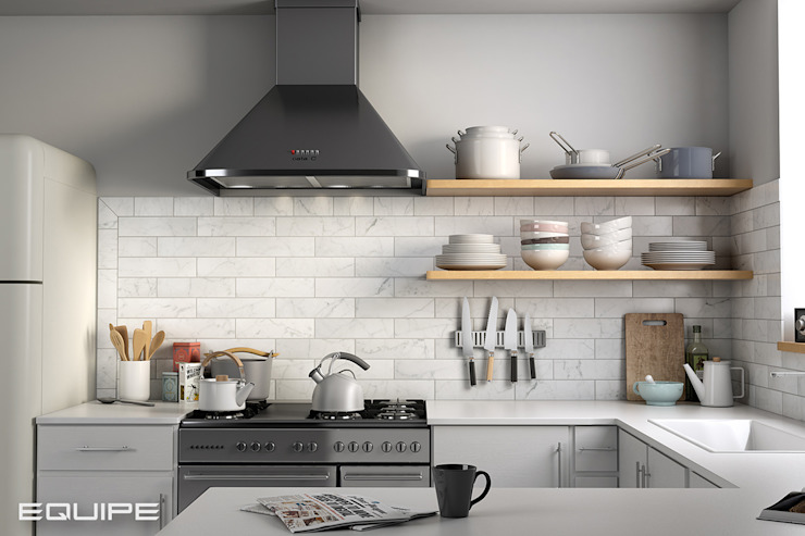 Equipe Ceramicas Kitchen Marble White