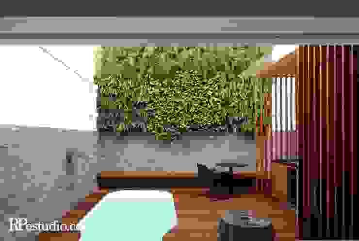 RP Estúdio - Roberta Polito e Luiz Gustavo Campos Modern style balcony, porch & terrace