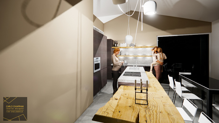 CARLO CHIAPPANI interior designer KücheAufbewahrung und Lagerung