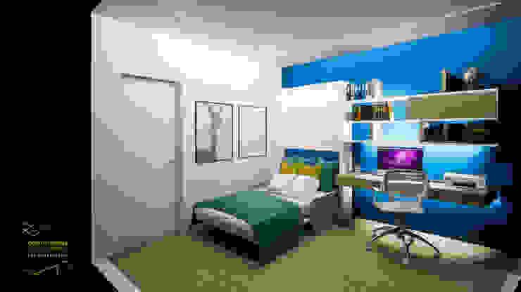 CARLO CHIAPPANI interior designer ห้องนอนขนาดเล็ก
