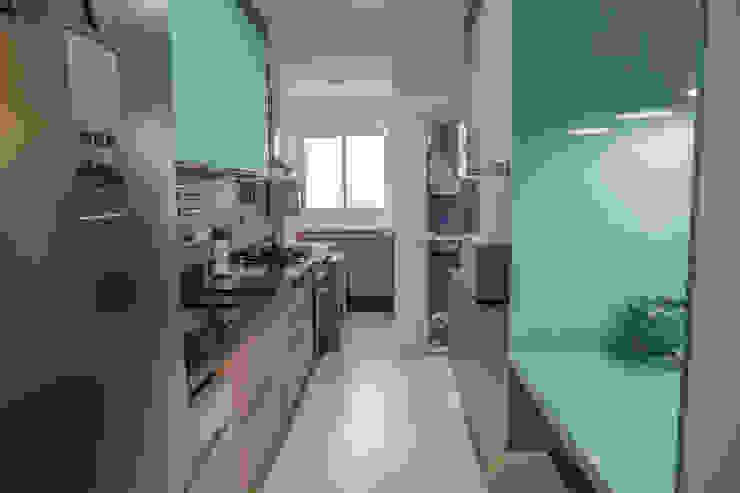 Camarina Studio Modern Kitchen Turquoise