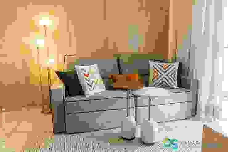 Camarina Studio Modern Living Room Amber/Gold