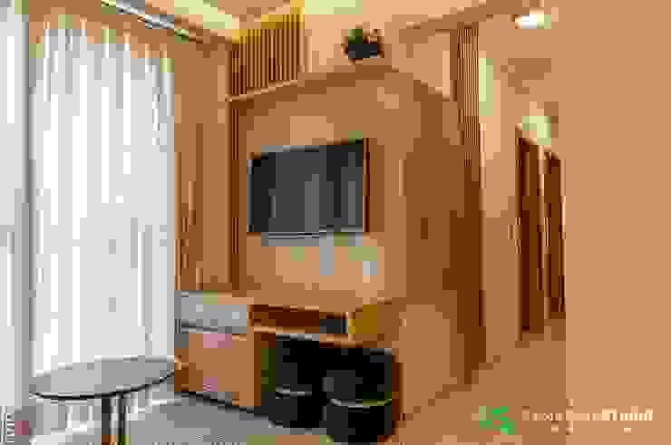 Camarina Studio Modern Living Room Green