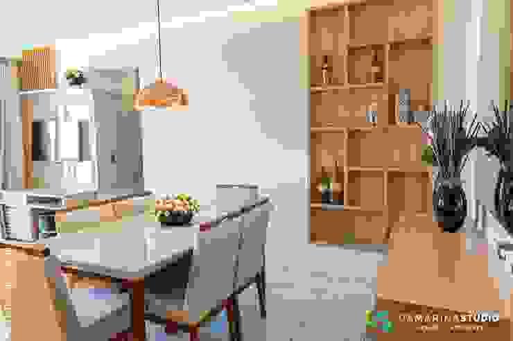 Camarina Studio Modern Dining Room Metallic/Silver