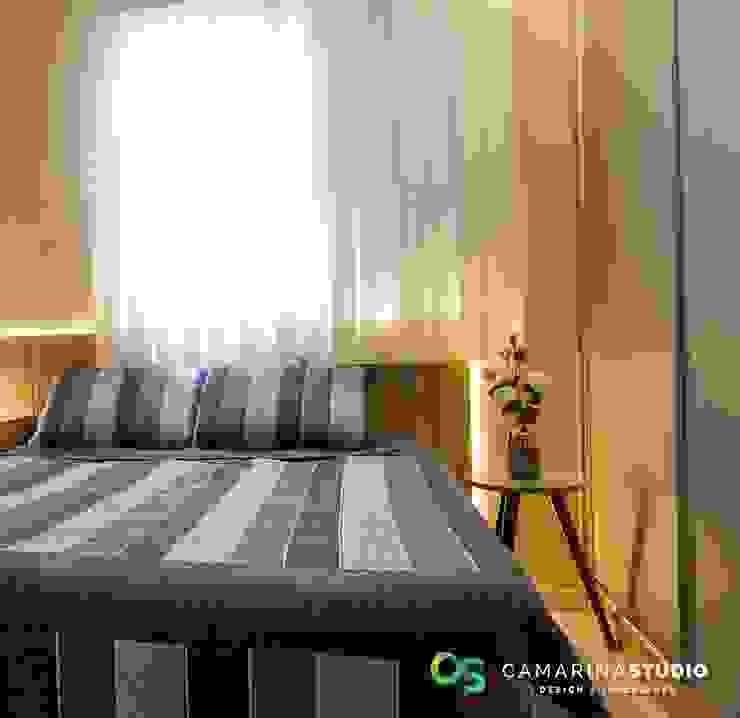 Camarina Studio Modern Bedroom Amber/Gold
