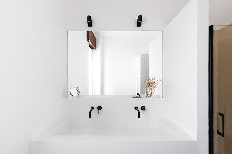 LAVABO IN MURATURA Cerra+Corbani Bagno minimalista