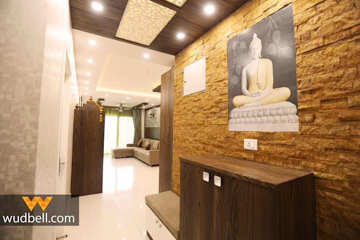Foyer Unit Wudbell Interior Design Company Modern corridor, hallway & stairs