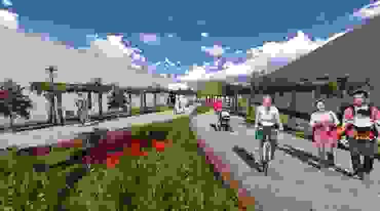 Pasaje peatonal - pisos permeables ROQA.7 ARQUITECTURA Y PAISAJE Jardines de estilo tropical