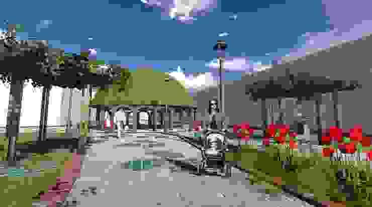 Pasaje peatonal - pisos permeables y sombra ROQA.7 ARQUITECTURA Y PAISAJE Jardines de estilo tropical