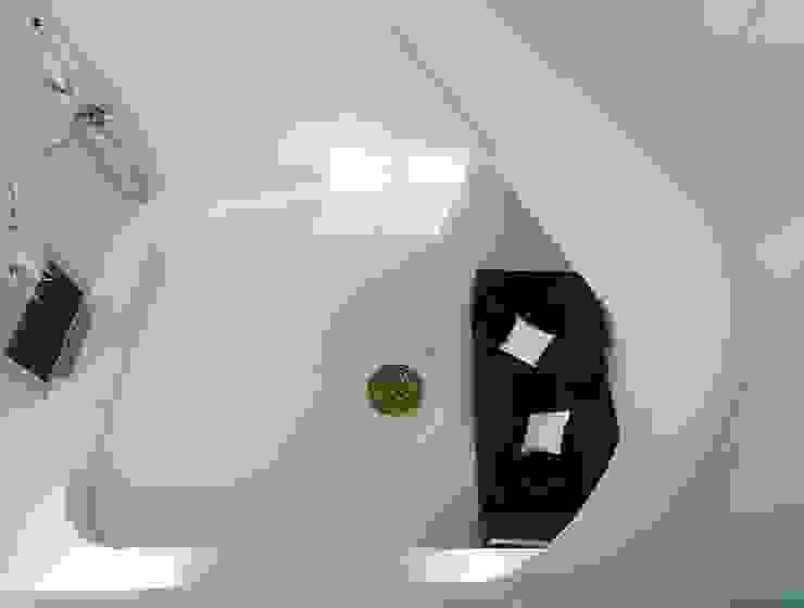 Deep White 福研設計happystudio 现代客厅設計點子、靈感 & 圖片