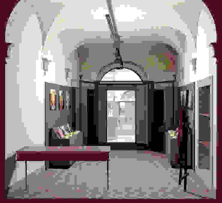 SEZIONE TRASVERSALE (NEGOZIO APERTO) Giancarlo Monteleone Negozi & Locali commerciali in stile minimalista Legno composito Variopinto