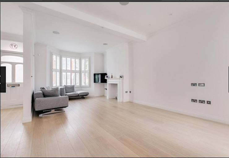 3 storey house central london—rear extension and roof extension Cris&Me l.t.d. Modern living room