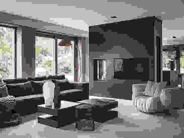 Villa Haren Studio Mariska Jagt Moderne woonkamers