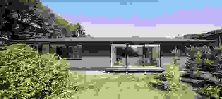 atelier137 ARCHITECTURAL DESIGN OFFICE Casas de madera Gris