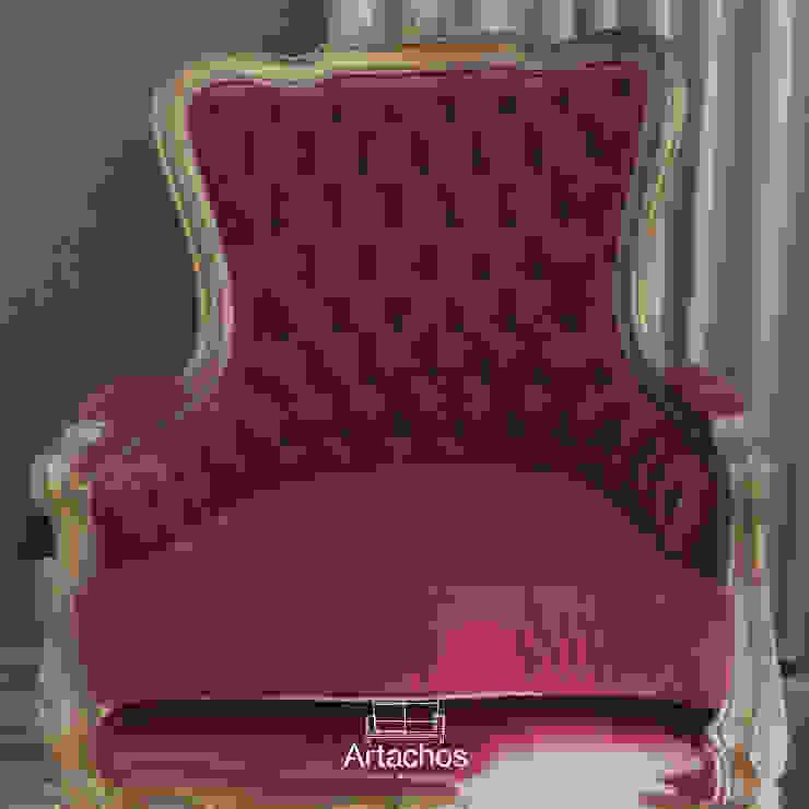 Artachos Decorações リビングルーム椅子 赤色