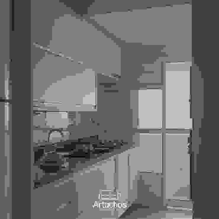 Cozinha com marcenaria sob medida Artachos Decorações CozinhaArmários e estantes