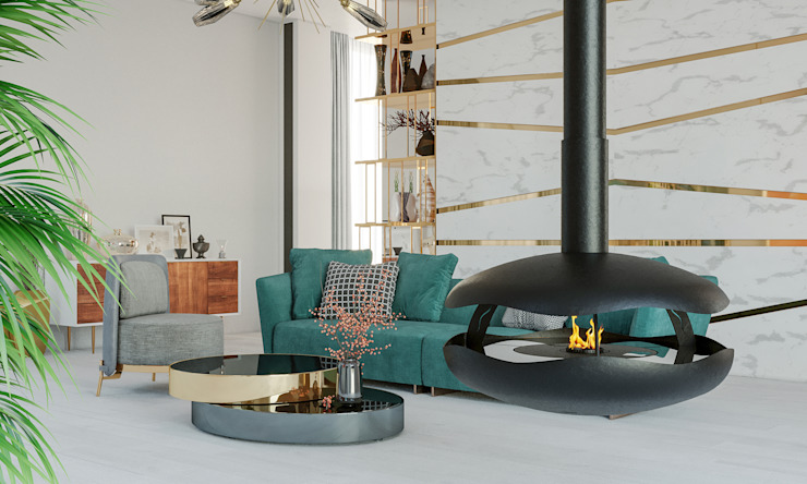 GlammFire Moderne woonkamers