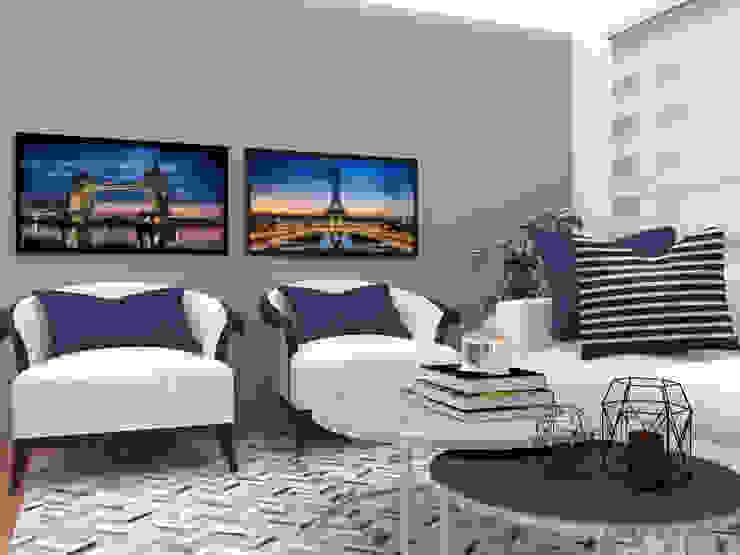 Asesoría en decoración, tapiceria Shirley Palomino Salas/RecibidoresSofás y sillones Madera Azul