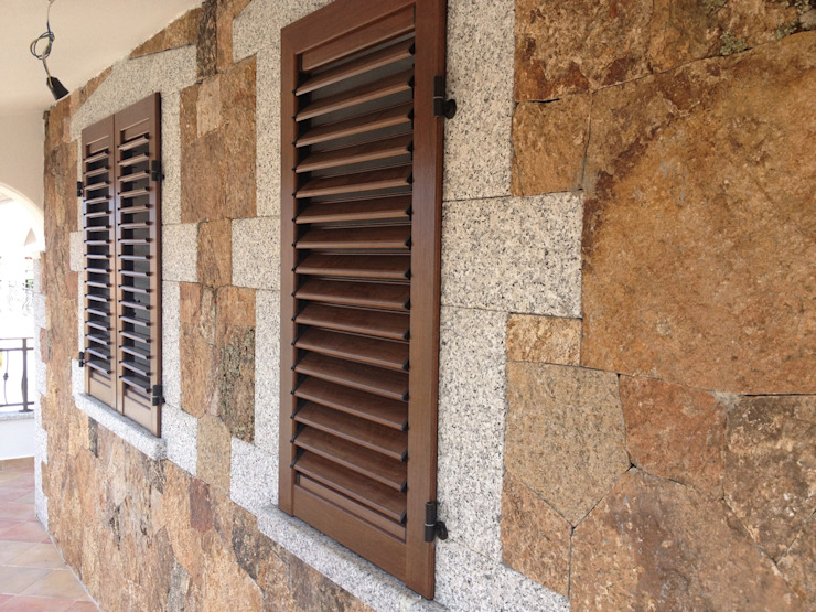 LE.ALL.FER. S.r.l. Shutters Aluminium/Zinc Wood effect