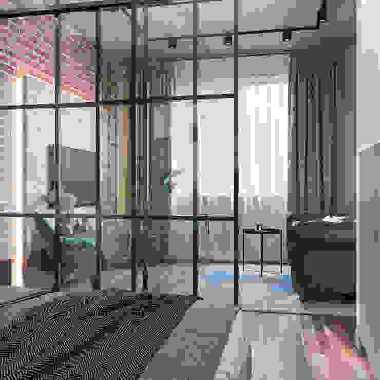 Студия дизайна 'INTSTYLE' ห้องนอนขนาดเล็ก ไม้ Brown