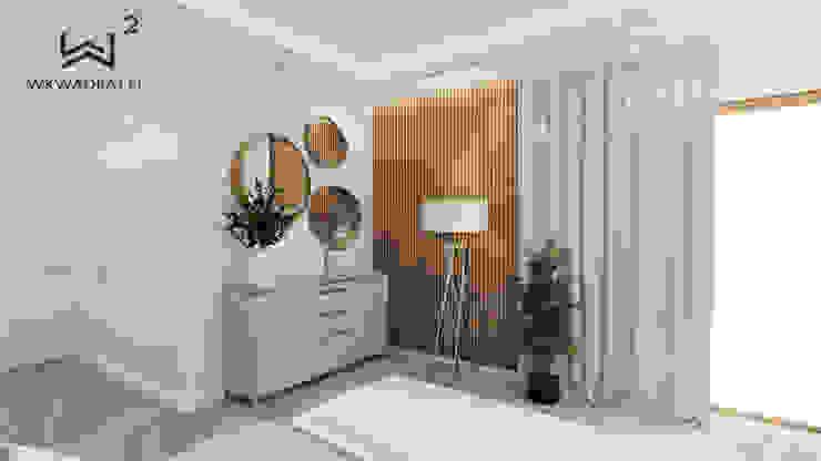 Wkwadrat Architekt Wnętrz Toruń Dormitorios minimalistas Mármol Beige