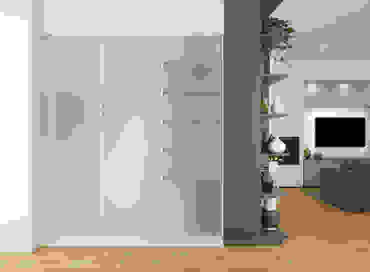 CM²T studio Modern corridor, hallway & stairs