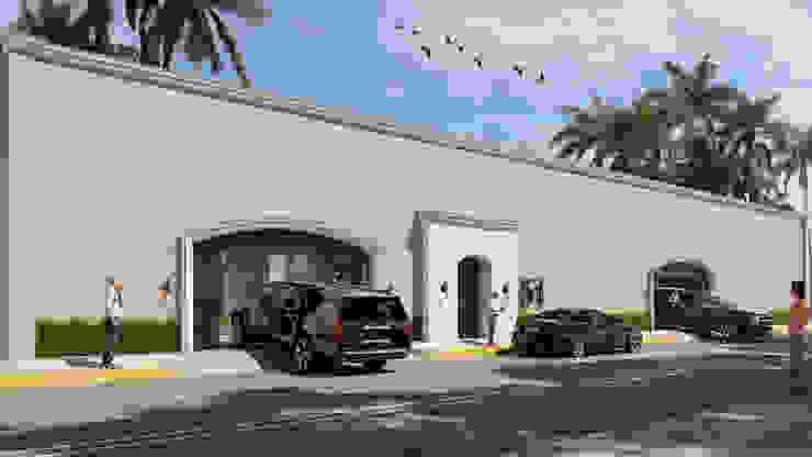 Casa Vicky SG Huerta Arquitecto Cancun Paredes y pisos de estilo mediterráneo Blanco