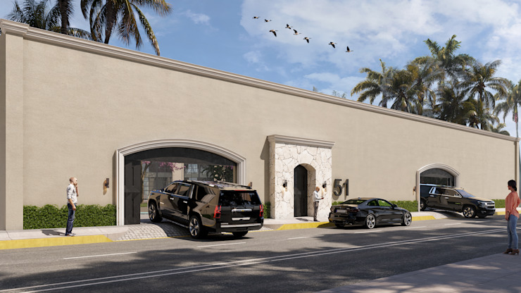 SG Huerta Arquitecto Cancun Mediterranean style walls & floors White