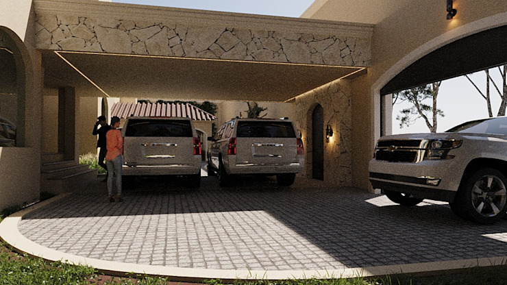 SG Huerta Arquitecto Cancun Double Garage Stone White