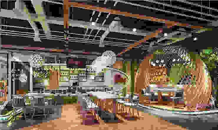 Indoor Artificial Plants Pots Sunwing Industries Ltd Moderne winkelruimten Kunststof Groen