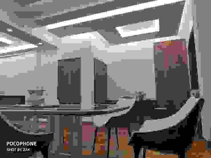 Ingresso Dr-Z Architects Ingresso, Corridoio & Scale in stile moderno Legno massello Bianco