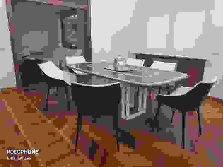 Area pranzo Dr-Z Architects Sala da pranzo moderna Legno massello Bianco