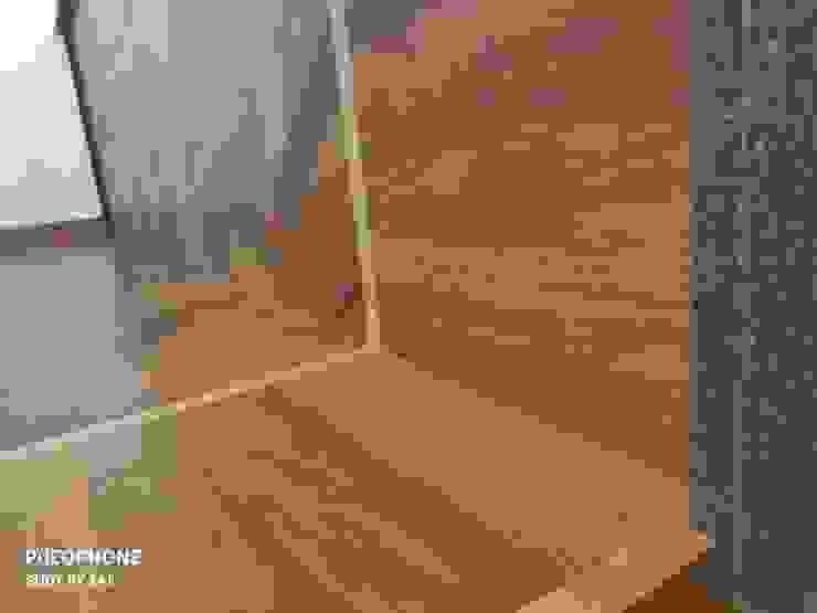 Dettaglio finiture Dr-Z Architects Sala da pranzo moderna Legno massello Effetto legno