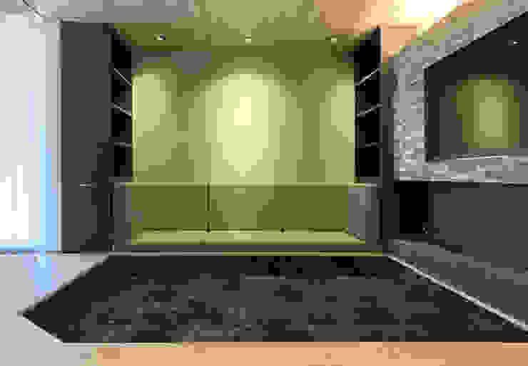 ラウンジピット ナカタヒロヨスタジオ モダンデザインの リビング 緑