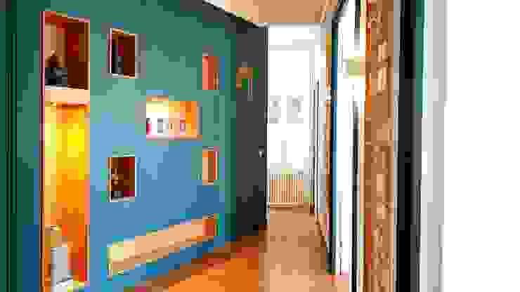 Entree Bibliothèque SAB & CO Couloir, entrée, escaliers modernes