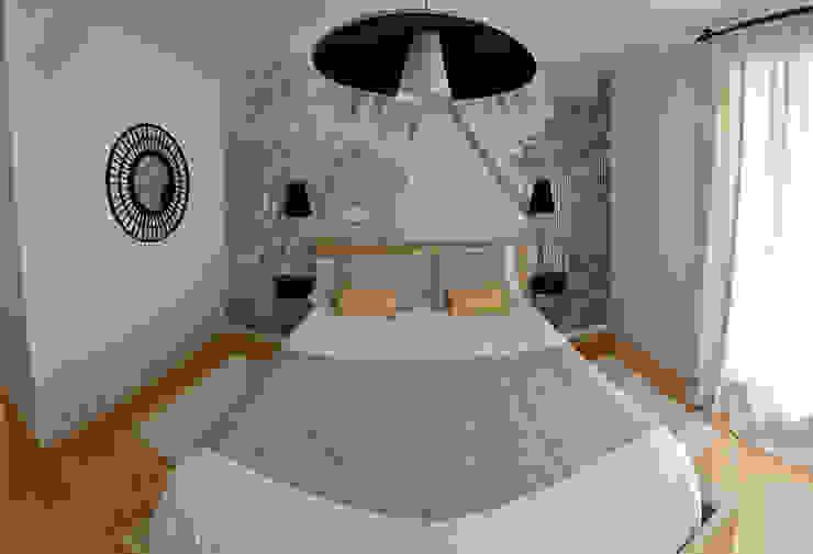 Dormitorio con papel mural Talaire Grup S.L Dormitorios modernos