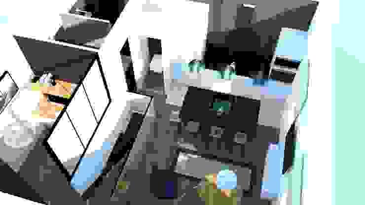 Vue 3D Salon SAB & CO Salon moderne
