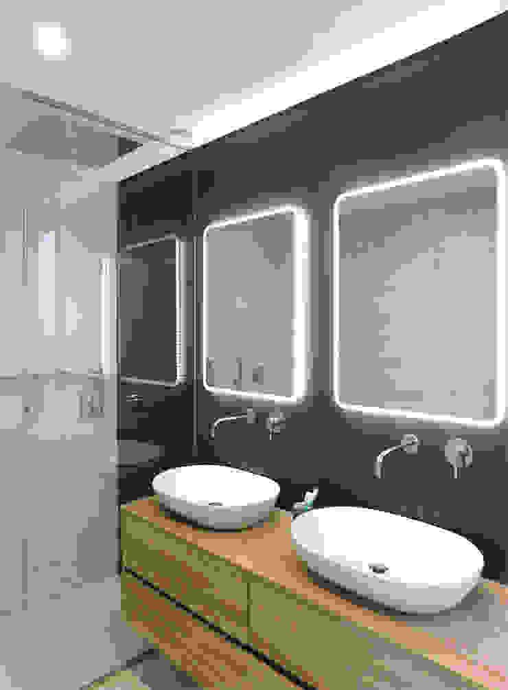 Luís Duarte Pacheco - Arquitecto Salle de bain moderne Gris