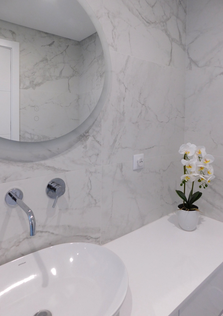Luís Duarte Pacheco - Arquitecto Salle de bain moderne Marbre