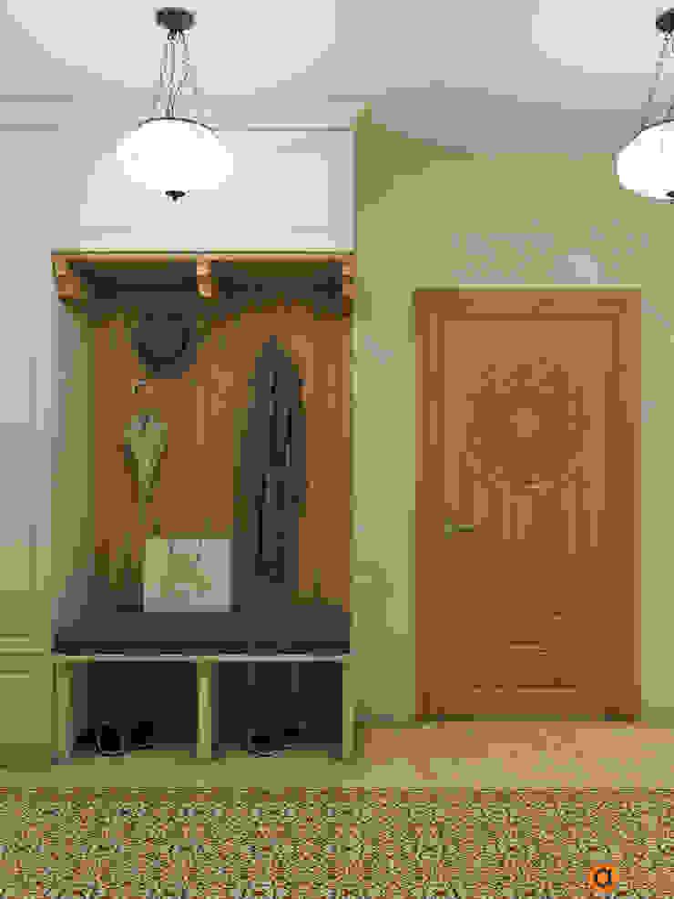 Artichok Design 地中海走廊,走廊和楼梯 木頭 Beige