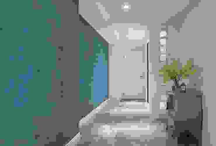 走道空間 禾廊室內設計 Classic style corridor, hallway and stairs