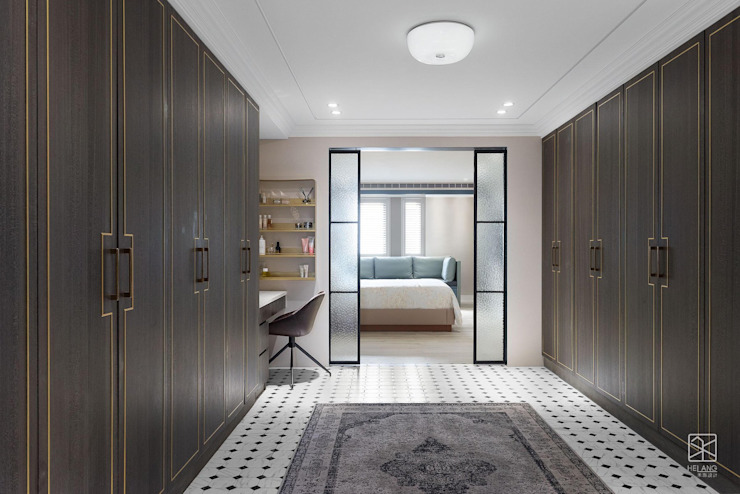 美式拉門 禾廊室內設計 Classic style dressing room