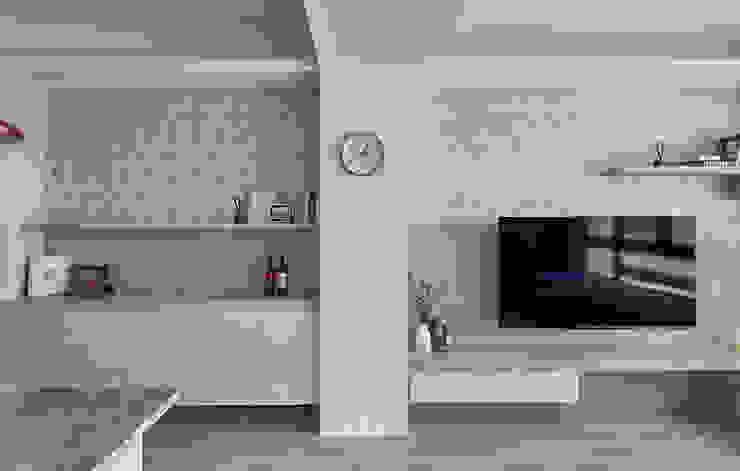 花磚與石材的呼應 禾廊室內設計 Walls