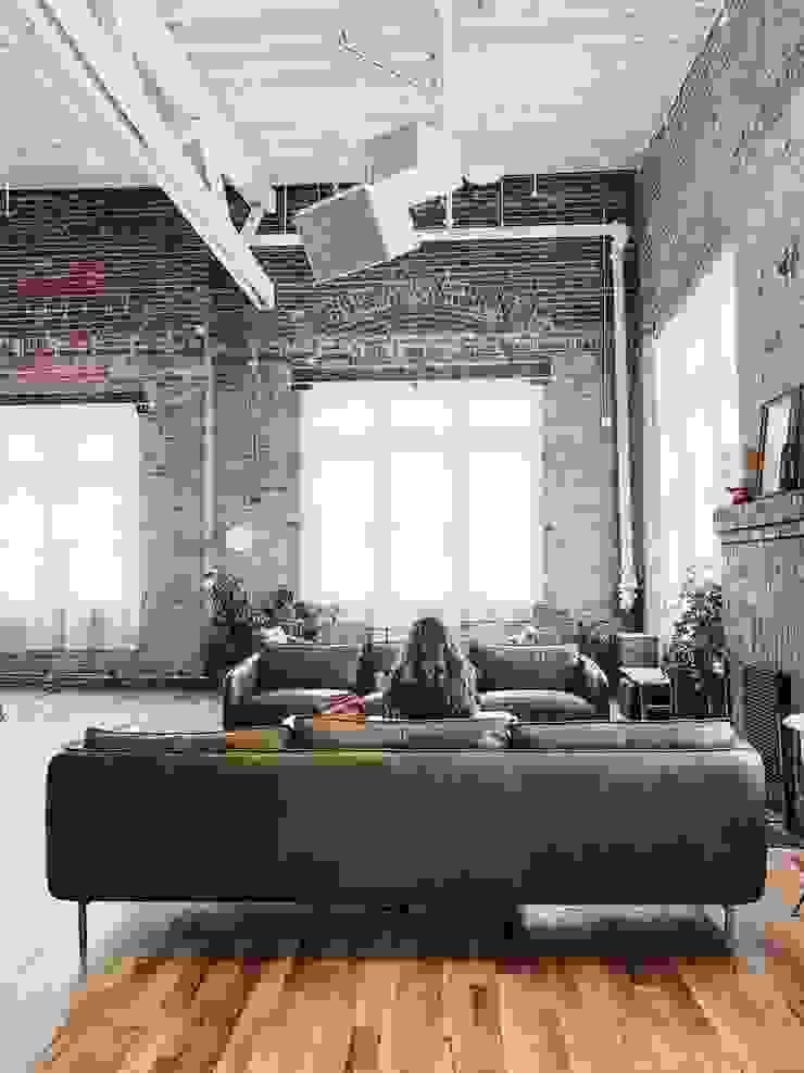 Floorwell Livings de estilo industrial Madera