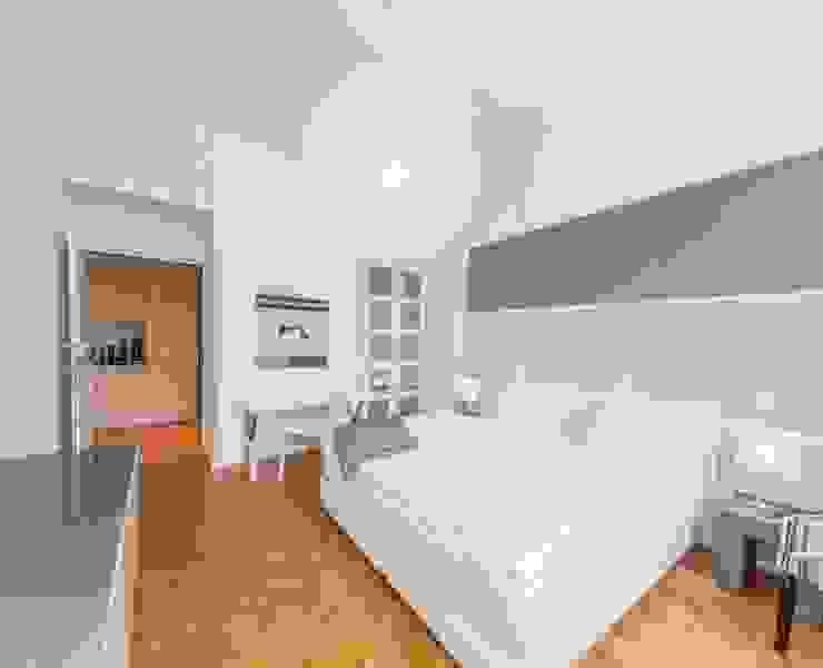Kleine Gästewohnung - Homestaging Projekt A Immobilienfotografie & Architekturfotografie André Henschke Kleines Schlafzimmer