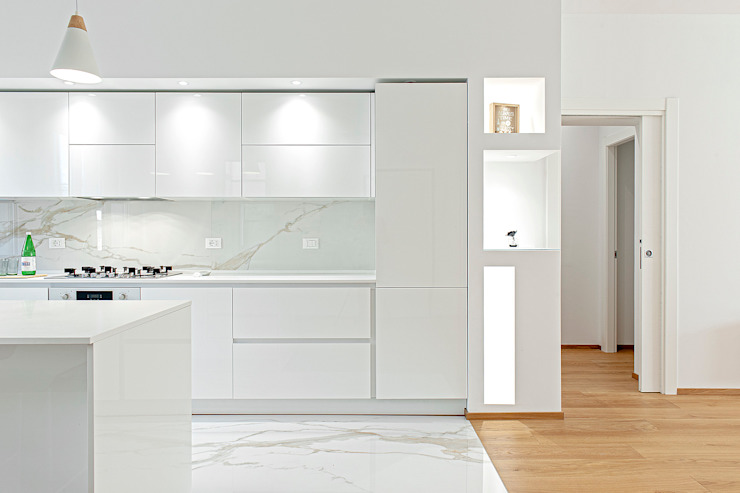 Luca Bucciantini Architettura d' interni Вбудовані кухні Білий