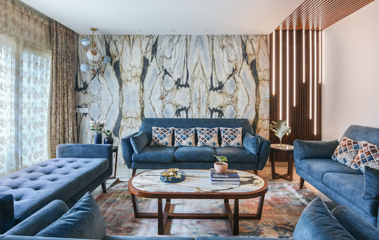 Formal Living Room by Prop Floor Interiors Modern Stone