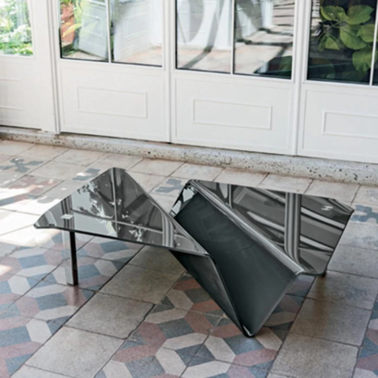 Albatros curved glass coffee table by Target Point My Italian Living Living roomSide tables & trays
